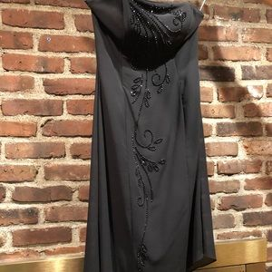Scott McClintock Strapless Black Cocktail Dress